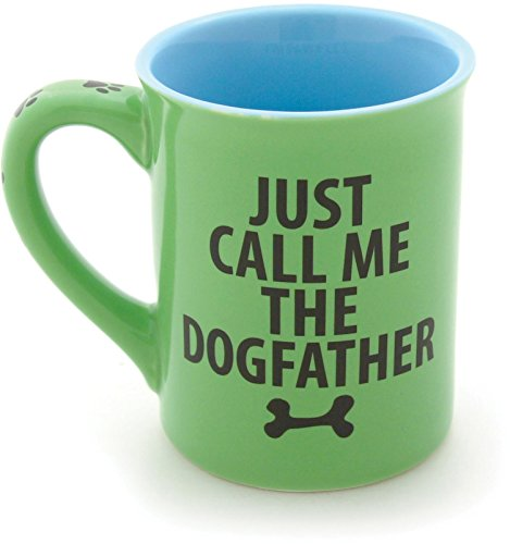 Enesco Our Name is Mud by Lorrie Veasey Dog Father Mug, 16-Ounce