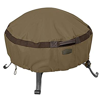 Classic Accessories 55-632-240101-EC Hickory Full Coverage Round Fire Pit Cover, Small