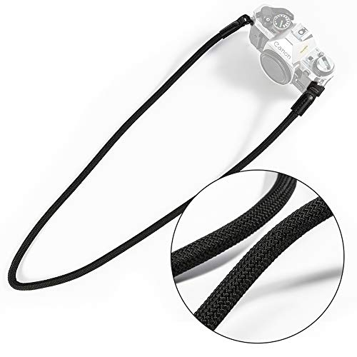 VKO Mirrorless Camera Neck Strap Compatible for Sony A6100 A6600 A6400 A6000 A6300 A6500 RXIRII RX10 RX10II RX10III RX10IV Cameras Climbing Rope Shoulder Strap Black (Cinch Strap Camera)