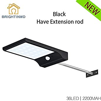 Solar Light 36LED 450LM PIR Motion Sensor Powered Street Lamps Garden Outdoor UK