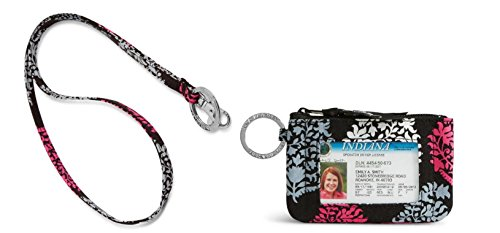 Vera Bradley Zip Id Case and Lanyard in Northern Lights