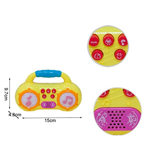 PlayBabyToys Mini Baby Music Radio – Play Songs And Listen To Music – Engage Your Baby At Any Time Anywhere – Children's Early Education Toys