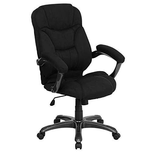 A Line Furniture Madrid Executive Black Microfiber Adjustable Swivel Office Chair with Padded - Madrid Chair Office