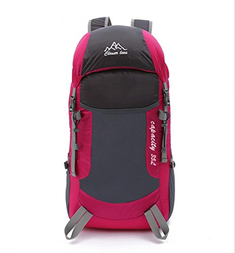 Wmshpeds Ultra ligero plegable paquete de viajes de ocio deportivo bolsa de hombro mochila de alpinismo al aire libre B
