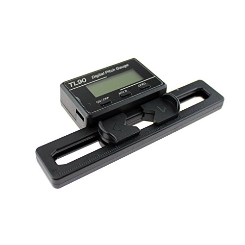 SoloGood TL90 LCD Display Digital Pitch Gauge Screw Pitch Gauge with Gyro Sensor for RC Airplane Helicopter ST250-800 Size