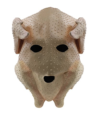 Turkey Chicken Head Mask Latex Full Head Animal Party Costumes Christmas Fancy Dress Party Masks Brown