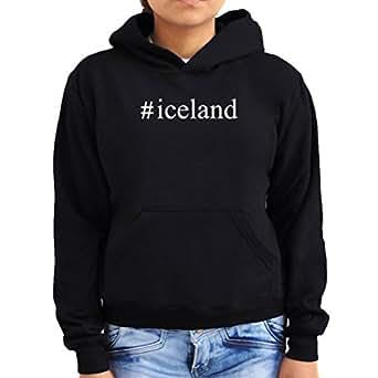 #Iceland Hashtag Women Hoodie