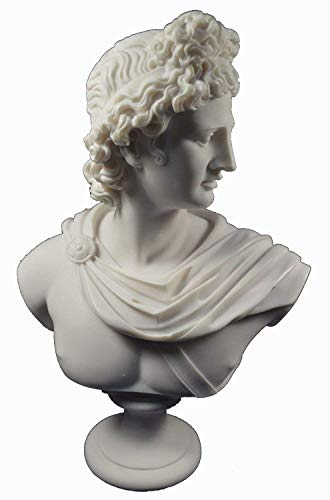 (Apollo Sculpture Statue Ancient Greek God of Sun and Poetry Great Bust)