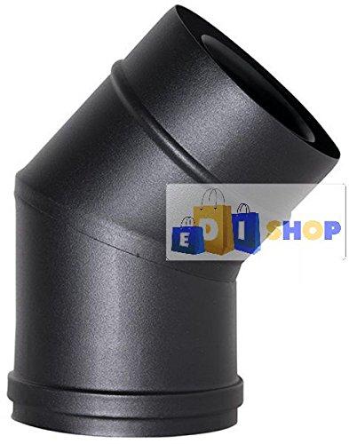 MBM Chimenea Flue Tubo Coax Negro D. 150 Locking Pinza CE en 316 Acero Estufa de pellets Hizo en Italia Uni 1856/2: Amazon.es: Jardín