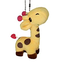 Lucore Happy Giraffe Plush Stuffed Animal Keychain - Hanging Toy Doll, Lucky Charm & Ornament (Yellow) by Lucore Home