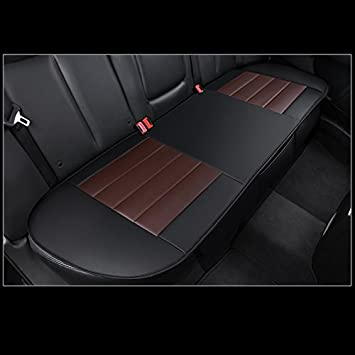 HONCENMAX Luxury Car seat Cover Cushion Pad Mat Protector for Auto Supplies for Sedan Hatchback SUV PU leather 2 Pack Front Seat Cover Without Backrest