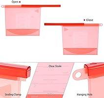 Bolsa Silicona Reutilizable Set 4 colores Preservación de ...