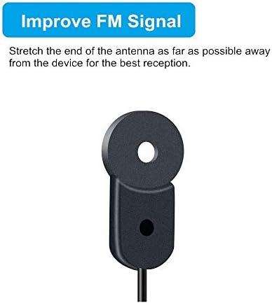 Antena FM para Receptor Estéreo en Interiores, Antena de Radio 75Ohm UNBAL F Tipo Cable Coaxial Macho Antena de Cable para Yamaha Onkyo, etc Mesa de ...