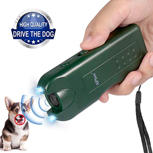2019 New Handheld Dog Repellent, Ultrasonic Infrared Dog Deterrent with 3 Function, Safe for Small Medium Large Dogs Behavior Training, Bark Control Device