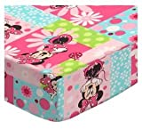 SheetWorld Fitted Cradle Sheet 18 x 36 - Minnie Mouse Patch - Made in USA