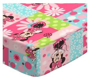 SheetWorld Fitted Bassinet Sheet 15 x 33 - Minnie Mouse Patch - Made in USA by SHEETWORLD.COM