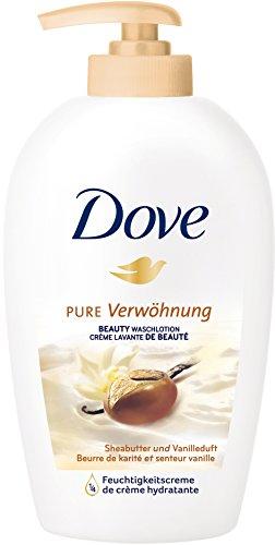 DOVE Pure Verwöhung Beauty Waschlotion Sheabutter und Vanilleduft 250 ml Spender, 6er Pack (6 x 250 ml)
