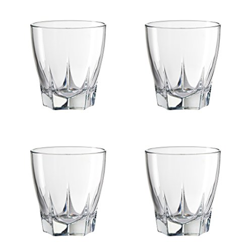 Amici Camelot Double Old Fashioned Glasses, 12 oz - Set of 4