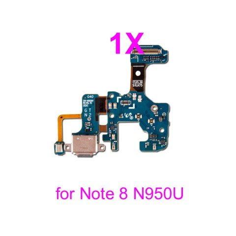 PHONSUN USB Charge Charging Flex Cable Microphone Replacement for Samsung Galaxy Note 8 N950U