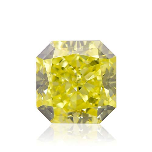 Leibish & Co 0.41Cts Fancy Intense Yellow Loose Diamond Natural Color Radiant Cut GIA Cert