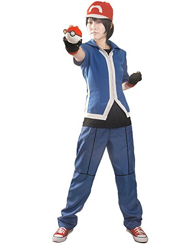 Miccostumes Men's Pokemon X and Y Ash Ketchum Cosplay Costume (S, (Ash Ketchum Costume Shirt)