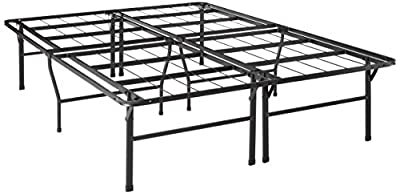 "Best Price Mattress Bed Frame, 18"" Metal Platform Bed Frame w/Heavy Duty Steel Slat Mattress Foundation (No Box Spring Needed), Parent"