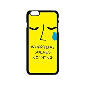 worrying solves nothing yellow background personalized high quality cell phone case for Iphone 6 wangjiang maoyi by lolosakes