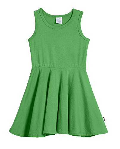 City Threads Big Girls' Cotton Party Twirly Tank Dress - Sensitive Skin and Sensory Friendly - School Summer, Elf, Size 8 -