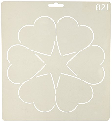 Quilting Creations Ring of Hearts Quilt Stencil, 8'' by Quilting Creations
