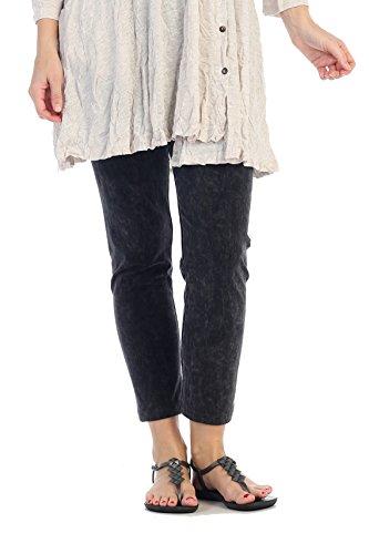 Career Linen Pant (Jess & Jane Women's Mineral Washed Cotton Legging Pants (3X, Black))