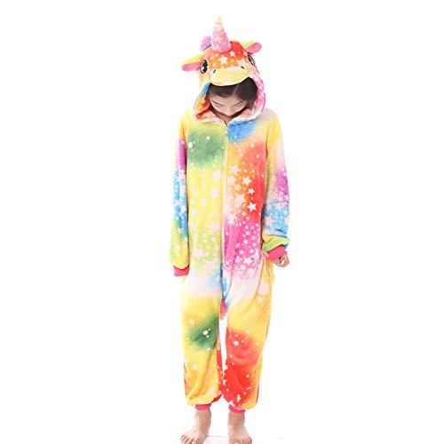 Adult Unicorn Onesie Pajamas Cartoon Animal One-Piece Cosplay Costume Sleepwear