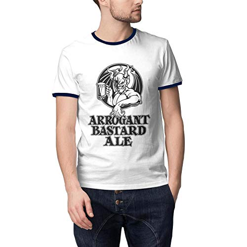 ORYSJDGTS Short Sleeve T Shirts Mens Arrogant-Bastard-Ale-from-Stone-Brewing-Co.-Beer- Fitted Tops