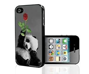 Adorable Smiling Baby Panda with Rose Hard Snap on Phone Case (iPhone 5/5s) Designed by HnW Accessories by mcsharks