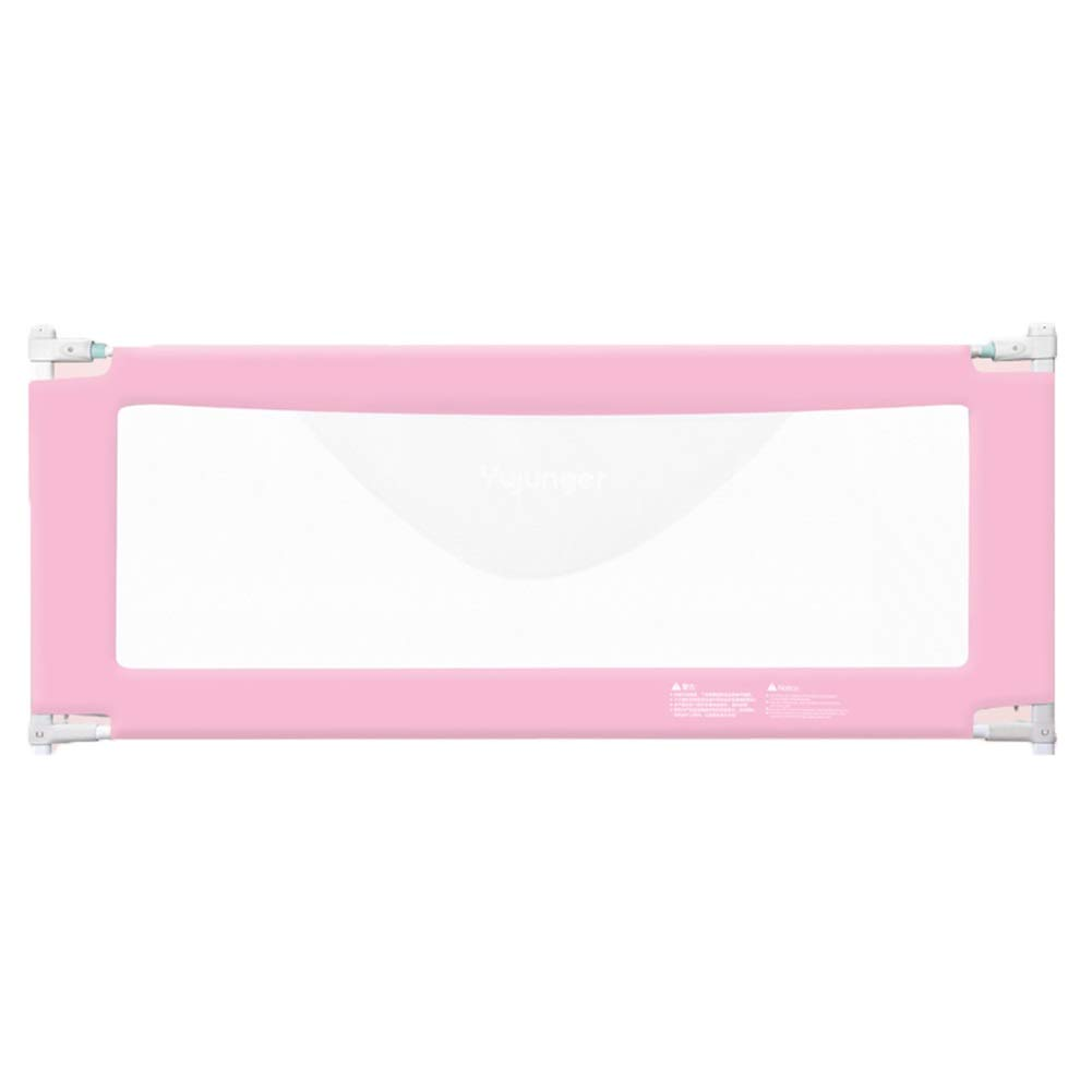 HENGYUS ベッドレール 赤ちゃんのための安定した構造5ギア垂直リフト調整高輝度グリッド通気性金属フレーム (Color : Pink, Size : 200x90cm) 200x90cm Pink B07SDRL13X