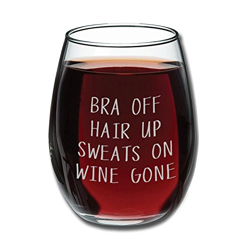 Hair Sweats Wine Funny Glass product image