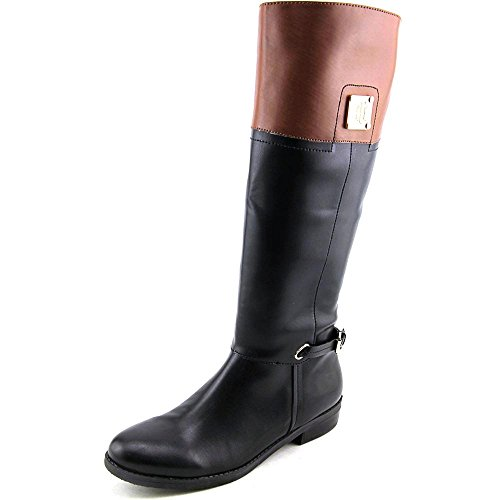 Tommy Hilfiger Xenon 2 Tall Riding Boots 6 M, Black Leather