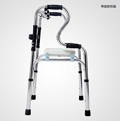 LUCKYYAN Drive Healthcare YC8209 Thickened aluminum alloy Folding Walking Frame with Rear Wheels , a by LUCKYYAN (Image #4)