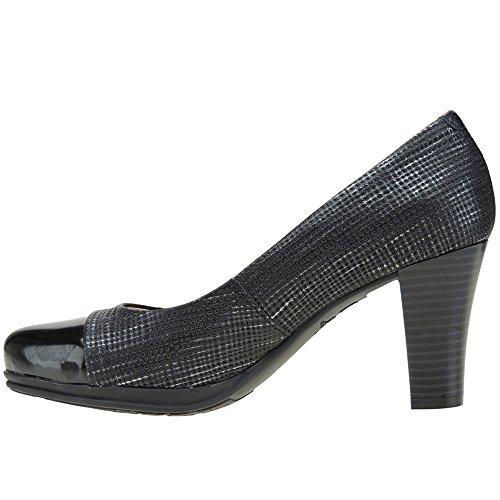 CHAMBY - Zapato Vestir Planta Gel Y Tacón De 8CM - Modelo 4320, color NEGRO, Talla 39