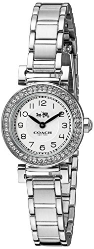 Coach Women's 14502402 Madison Silver Tone Stainless Steel Crystal Glitz Watch