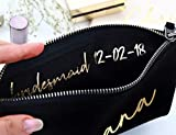 Bridesmaid Makeup Bag Canvas Organizer Portable Large Cosmetic Pouch Travel Bag Personalized Cosmetic Bags for Bridesmaids, Maid of Honor Gift, Bridal Party Make up Bags