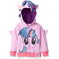 Sudadera con capucha Twilight Sparkle de My Little Pony Big Girls, Púrpura /Múltiple, 8-10 /Mediana