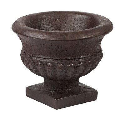 (Solid Rock Stoneworks Empire Stone Planter 12in Tall x 14in Diameter x 7in Base Java Color)