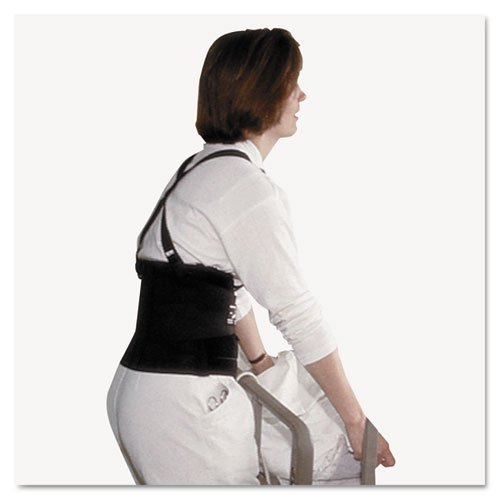 Impact 7379M Standard Back Support, 7 Back Panel, Single Closure, Suspenders, Medium, Black by Impact by Impact