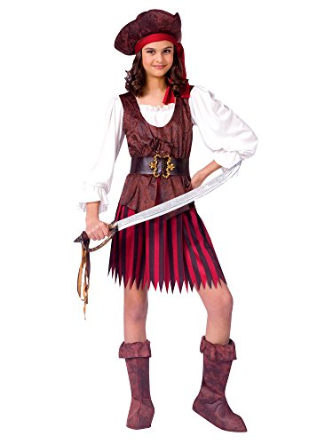 Fun World Big Girls' High Seas Pirate Girl Costume (Medium (8-10)) -
