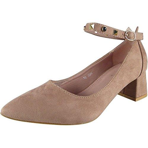 Taille 36 Cheville Rose Femmes 41 Sangle Aux Des sandales Chunky SY1gw7q
