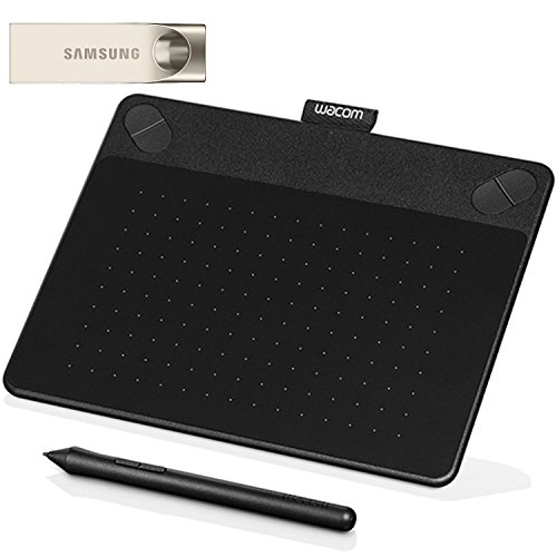 Wacom Intuos Art Pen and Touch digital graphics, drawing & painting tablet CTH490AK + Samsung 32GB USB 3.0 Flash Drive (MUF-32BA/AM)
