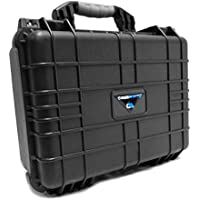 CASEMATIX Durable Projector travel Case Fits 2017 Model ABOX 2000 and 2400 Lumens LCD Video Projector by GooBang Doo and Accessories Such as remote and Cable