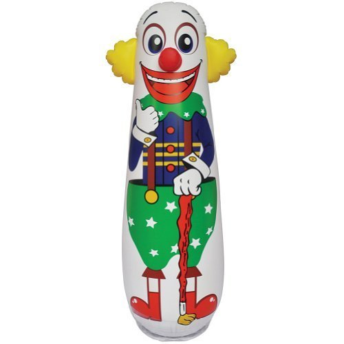 Old Style Clown Punching Bag - Inflatable Bounce Back Toy (Clown Inflatable)