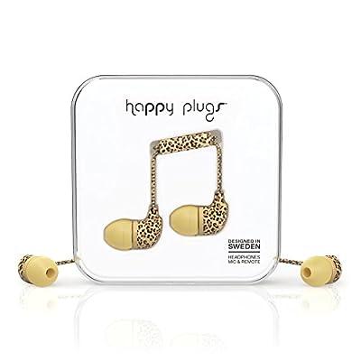 Happy Plugs 7740 In-Ear Headphones, Leopard