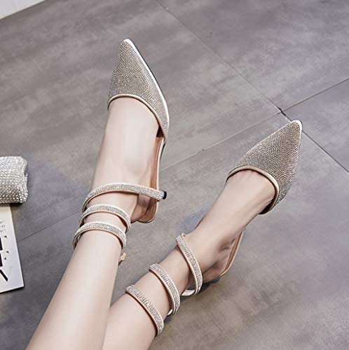 Snake Diamond Sandali 2 Sandali 36 Tacco Femminili Summer Dimensioni Around Colore Shoes Wrapped Romani con Alto IBw4zn5Uxq